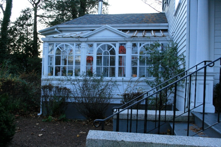 a solarium in the historic district