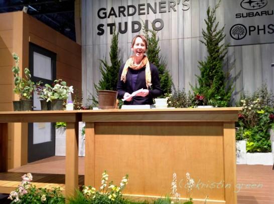 on the Gardener's Studio stage